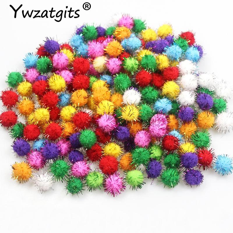 144pcs approx 10mm Fluffy Soft Pom Poms Pompoms balls Handmade Wedding Decor For DIY Kids Toys Craft Supplies Materials YJ0702