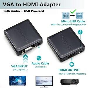 Image 5 - AIXXCO באיכות נייד ולשחק VGA כדי HDMI פלט 1080P HD אודיו טלוויזיה AV HDTV מחשב וידאו כבל VGA2HDMI ממיר מתאם