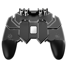 AK66 Six Fingers PUBG Mobile Game Controller Gamepad Metal Trigger Shooting Free Fire Joystick For All IOS Android Phone
