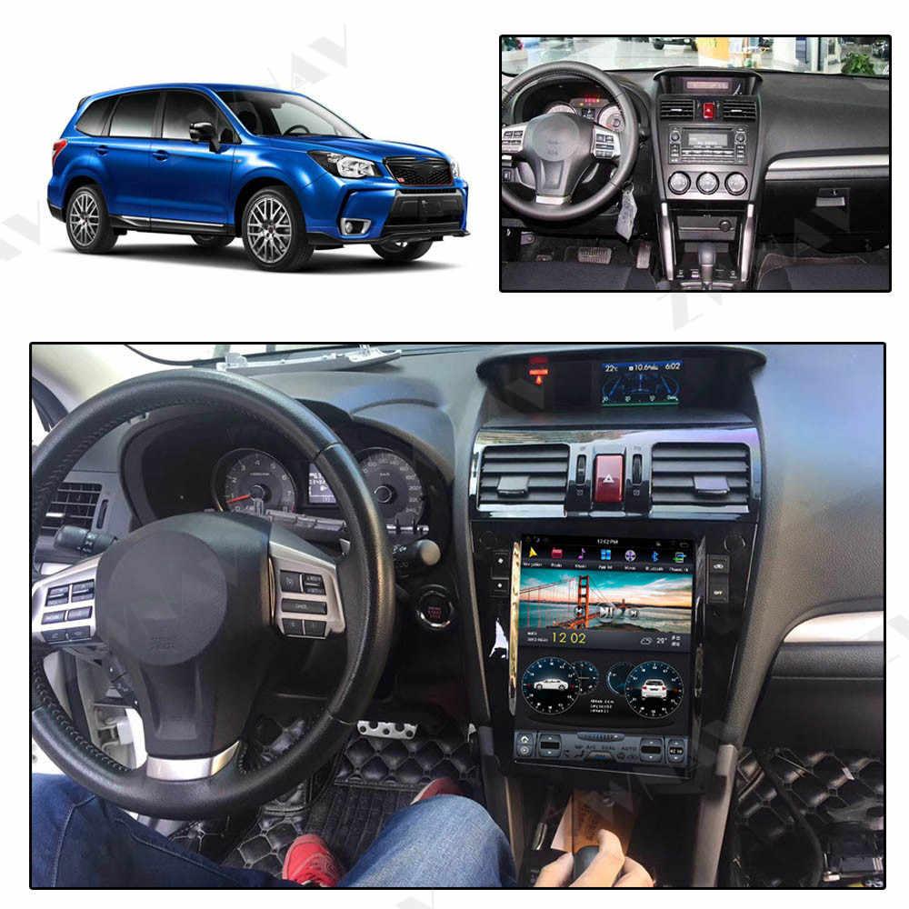Android 9 64 + 4G Tesla с DSP Carplay автомобильный мультимедийный плеер стерео для Subaru Forester 2013 + авто радио gps навигация
