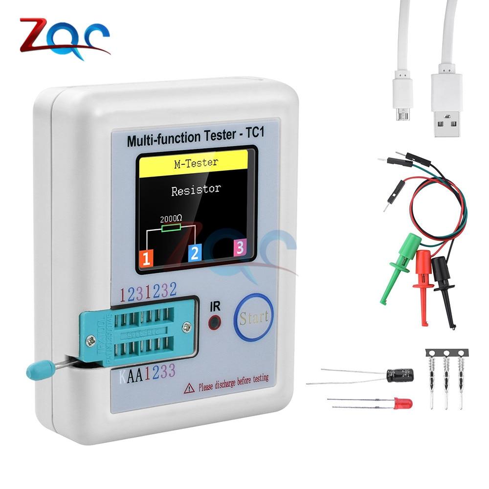"""LCR-TC1 1,8 """"TFT LCD дисплей многометровый транзистор тест er диодный триодный конденсатор резистор тест-метр LCR ESR NPN PNP MOSFET COD"""