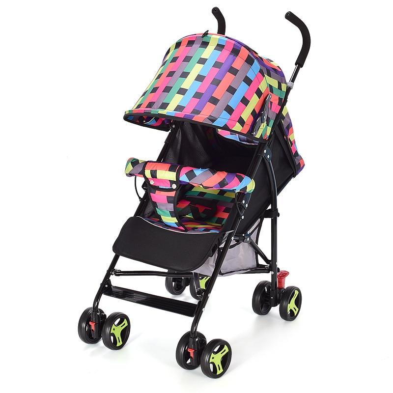 2019 Lie Down, Foldable, Shock Absorption, Four-wheel Children's Car, High Landscape, Hand Push Children's Car