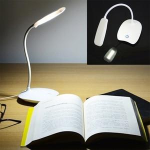1pc LED Desks Lamp 1.5W USB Rechargeable Table Lamp 3 Modes Adjustable LED Desk Lamps 4 Color Eye Protection Table Lights