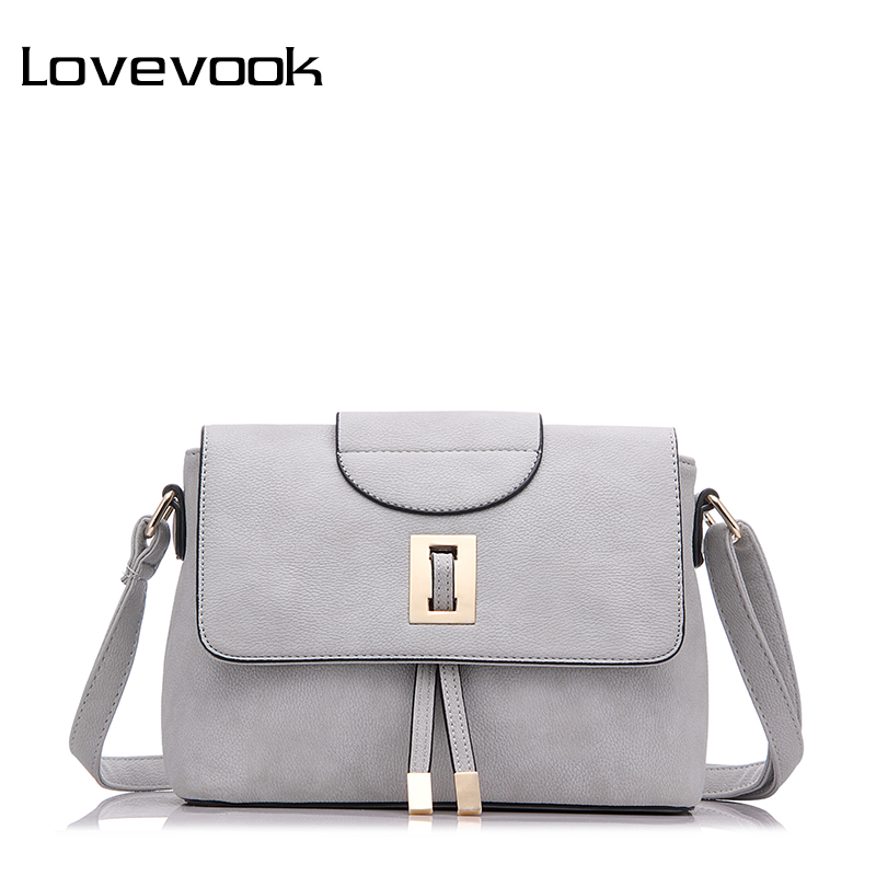 LOVEVOOK Brand Female Shoulder Crossbody Bag High Quality Messenger Bags For Women 2019 Ladies Zipper Handbag Retro Purse Clutch