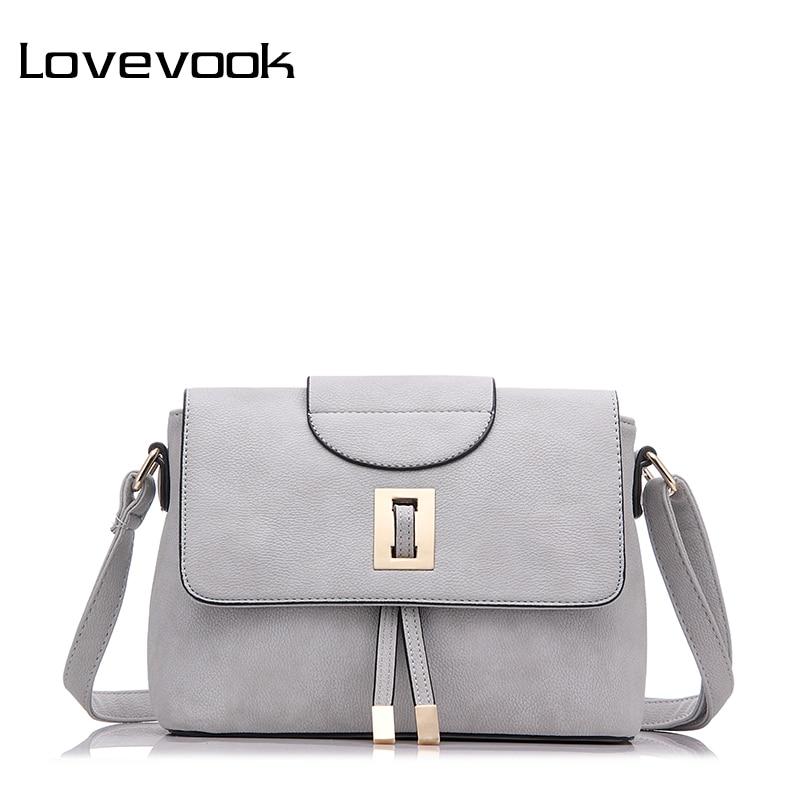 LOVEVOOK Brand Female Shoulder Crossbody Bag High Quality Messenger Bags For Women 2019 Ladies Zipper Handbag Retro Purse Clutch