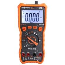 20A 디지털 멀티 미터 6000 카운트 테스터 전문 NCV HFE True RMS 100mF 커패시턴스 AC/DC 전압 전류 온도 도구