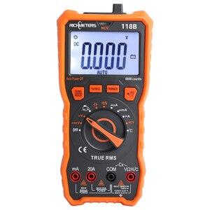 Image 1 - 20A multimètre numérique 6000 comptes testeur professionnel NCV HFE vrai RMS 100mF capacité tension ca/cc courant température outil