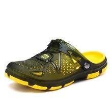 2020 Crocks Hole Shoes Croc Men Green Garden Casual Rubber Clogs For Men Male Sa