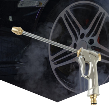 цена на High Pressure Water Spray Gun Cleaner Car Wash Garden Watering Hose Nozzle Nozzle Full Metal Plating Cleaning Water Gun
