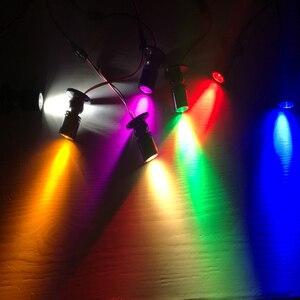 Image 5 - 5 יח\חבילה RGB LED זרקור משטח 3W מיני led ספוט אור תקרה למטה תאורה ניתן לעמעום ארון הנורה AC85 265V
