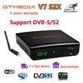 Gtmedia DVB-S2 V7S HD Satellite Decoder 1080P DVB-S2 GT Media V7S HD Include USB Wifi H.265 TV Box Powered by v7 Remote Control