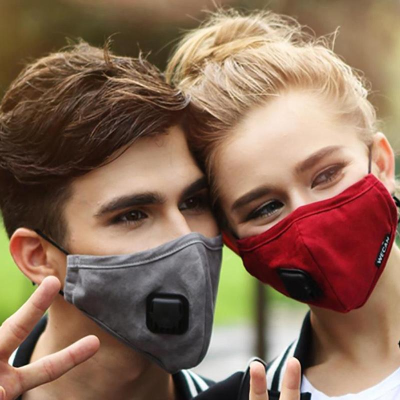 PM2.5 Anti Haze Cotton Mask Women Breath Valve Anti-dust Mouth Mask Activated Carbon Respirator Mouth-muffle Mask Men