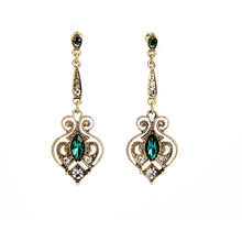 2019 Retro Alloy Heart Drop Earrings for Women Summer Trendy Gold Color Gifts
