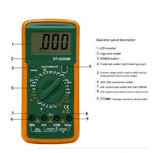 Лучший 9205 м Модернизированная версия Оптовая Продажа Ручной ЖК-экран цифровой мультиметр с зуммером тестер метр VS DT830B RM101 DT9205