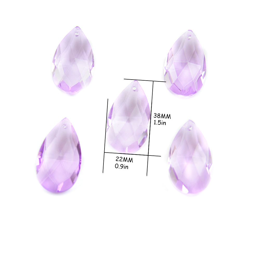 5 Fuchsia 80mm Icicle Chandelier Crystals Prisms Hot Pink Pendants
