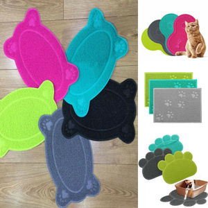 2020 New Dog Pet Cat Litter Mat Feeding Mat Puppy Kitty Dish Bowl Placemat Tray Tidy Easy Cleaning Pad Cat Dog Claw Mat Hot