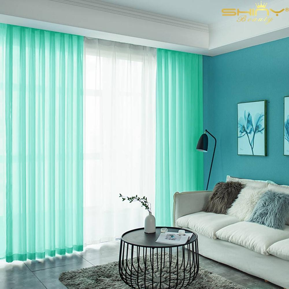 Light Green Living Room Curtains Sheer 29x84 Inch Tulle Photo Booth Backdrop Mint Green Chiffon Curtain For Backdrop-M1007