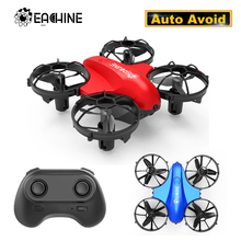 Eachine E008 Mini Drone 2.4G 4CH 6 Axis Headless Mode Infrared Obstacle Avoidance 360 degree roll RC Quadcopter RTF Dron Toys