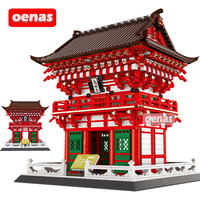 2049PCS MOC Architecture Japan Kyoto Niomon Of Kiyomizu Dera assembled Building Blocks Construction Brick DIY kit kids toys gift