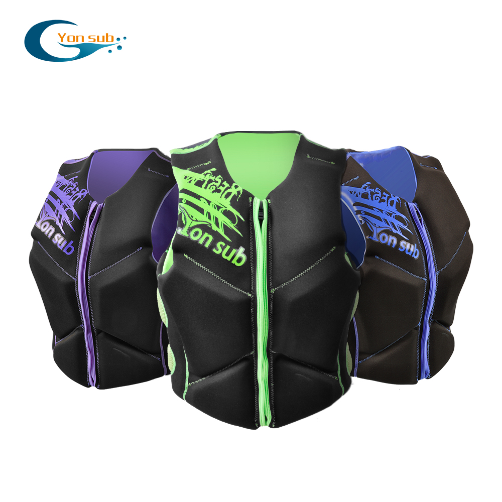 Yonsub Neoprene Life Jacket Adult Fishing vest Motorboating Surfing Drifting Buoyancy Jackets