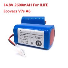 14.8V 2600mAH Battery Rechargeable Battery for ILIFE Ecovacs V7s A6 V7s Pro X620 ILife Battery Accessories 2020 New