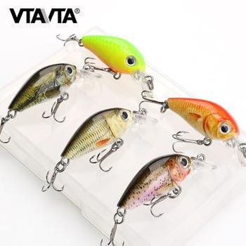 5pcs Mini Wobblers Fishing Lure Set 36mm 3.6g Crankbait