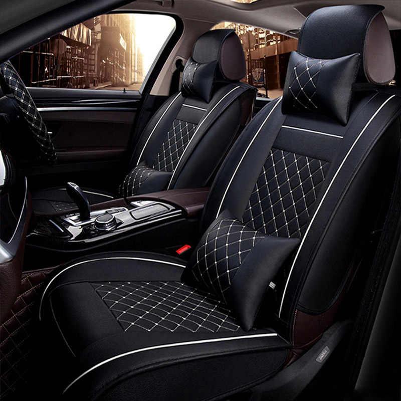 العالمي غطاء مقعد السيارة جلد لفولكس واجن بولو فولكس فاجن جولف باسات B5 B6 تيغوان باسات طوارق جميع نماذج اكسسوارات السيارات