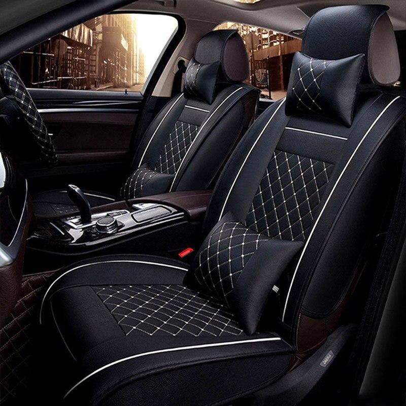 Universelle housse de siège de voiture En Cuir pour bmw e90 e46 520 525 320x3 f25 x5 e70 f10 f20 x1 x6 x4 e36 tous les modèles de voiture accessoires