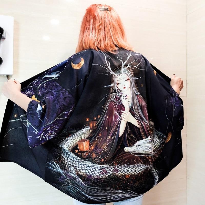 Kimono femme Yukata Haori japonais Kimono Cardigan Yukata femme japonais Streetwear samouraï japon vêtements Cosplay FF20200