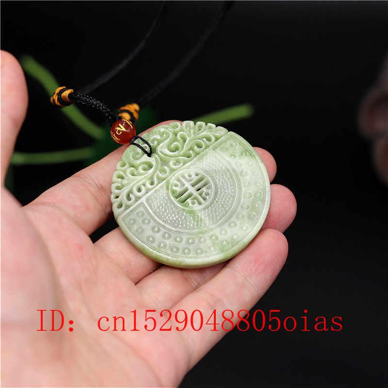สีขาวธรรมชาติสีเขียวหยกจีน Dragon Phoenix จี้สร้อยคอสร้อยคอสร้อยคอสร้อยคอสร้อยคอสร้อยคอสร้อยคอสร้อยคอสร้อยคอสร้อยข้อมือเครื่องประดับสองด้าน Hollow แกะสลักของขวัญ Amulet สำหรับผู้หญิง