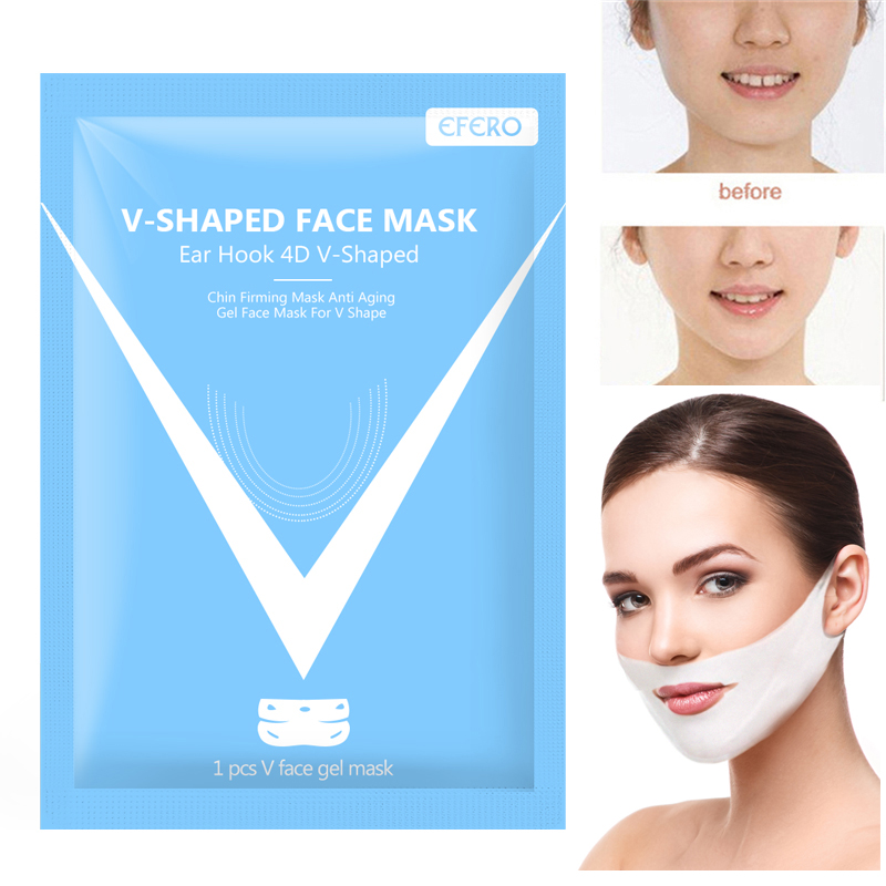 EFERO 4D V Face Mask Chin Cheek Thin Face Lifting Mask Hydrogel Slimming Face Mask Ear Hanging Slimmer Beauty Skin Care Tools in Treatments Masks from Beauty Health