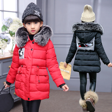 girls winter thicken cotton coat children's clothing jacket  comfortable cartoon print  girls Clothes Children Clothing e ting handmade fashion doll clothes winter clothing rose coat jacket skinny star print jean girls suit for barbie accessories