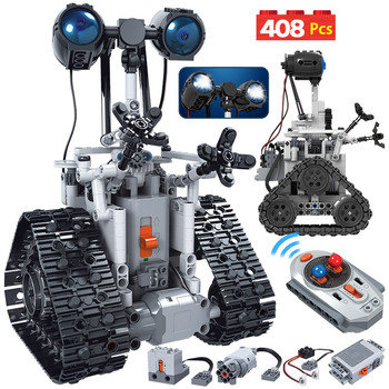 408PCS City Creative MOC RC Robot Electric Building Blocks Legoing Technic remote Control Intelligent Robot Bricks Toys For boys