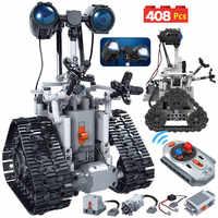 408 Uds ciudad creativa RC Robot bloques de construcción eléctricos para Legoing Technic Control remoto inteligente Robot de ladrillos juguetes para niños