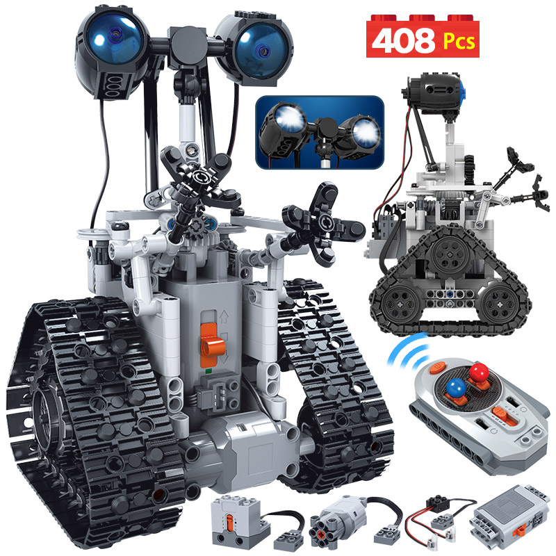 408PCS City Creative RC Robot Electric Building Blocks For Legoing Technic Remote Control Intelligent Robot Bricks Toys For Boys