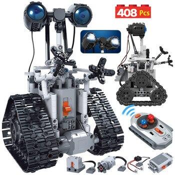 ERBO 408 шт. городской креативный RC робот, электрические строительные блоки, технический пульт дистанционного управления, умный робот, кирпичи,...