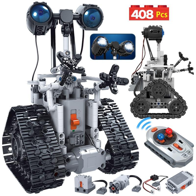 ZKZC 408 шт. креативный городской робот на дистанционном управлении Электрический строительный блок высокотехнологичный интеллектуальный ро...