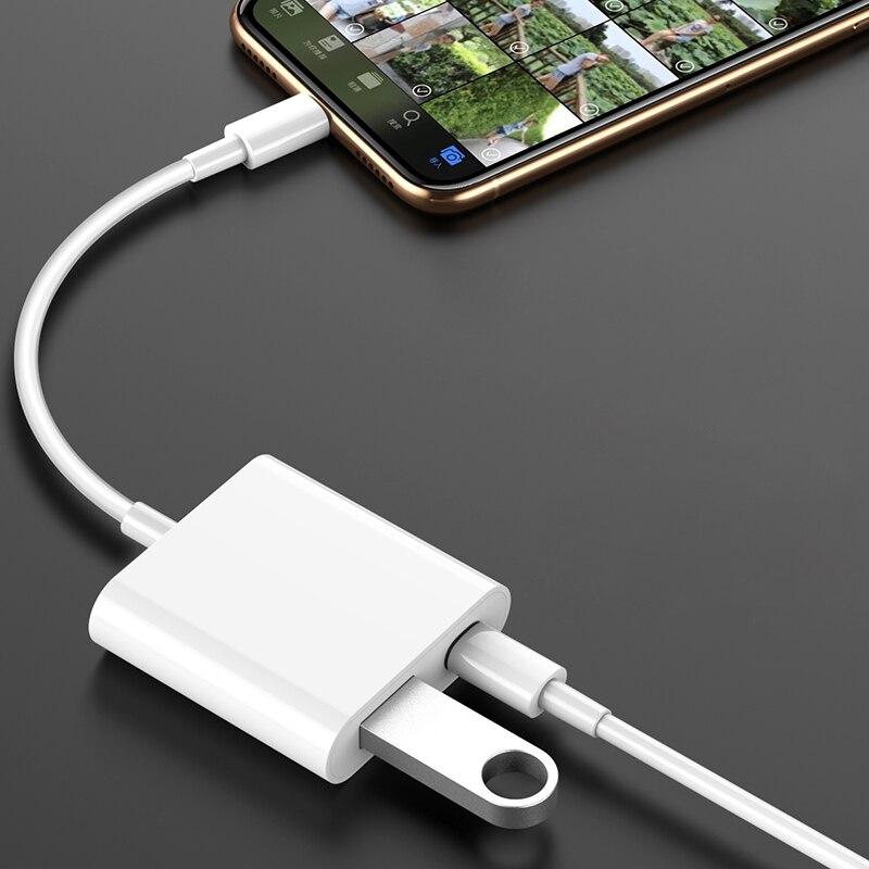 Adaptador USB para Lightning a USB adaptador Cámara OTG Cable para iPhone iPad teclado USB Flash Drive adaptador de lector de tarjetas SD Universal 3 en 1 tipo OTG-C lector de tarjetas USB 3,0 USB Hub Micro USB Combo a 2 ranura TF SD tipo C lector de tarjetas para teléfonos inteligentes PC