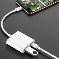 Usb 어댑터에 번개 usb 어댑터 아이폰에 대 한 otg 케이블 ipad 키보드 usb 플래시 드라이브 sd 카드 판독기 어댑터