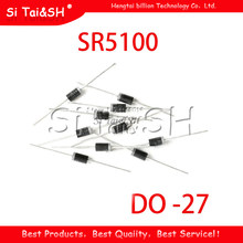 Diodes schottky SR5100 5A/ 100V DO -27 SB5100, 20 pièces