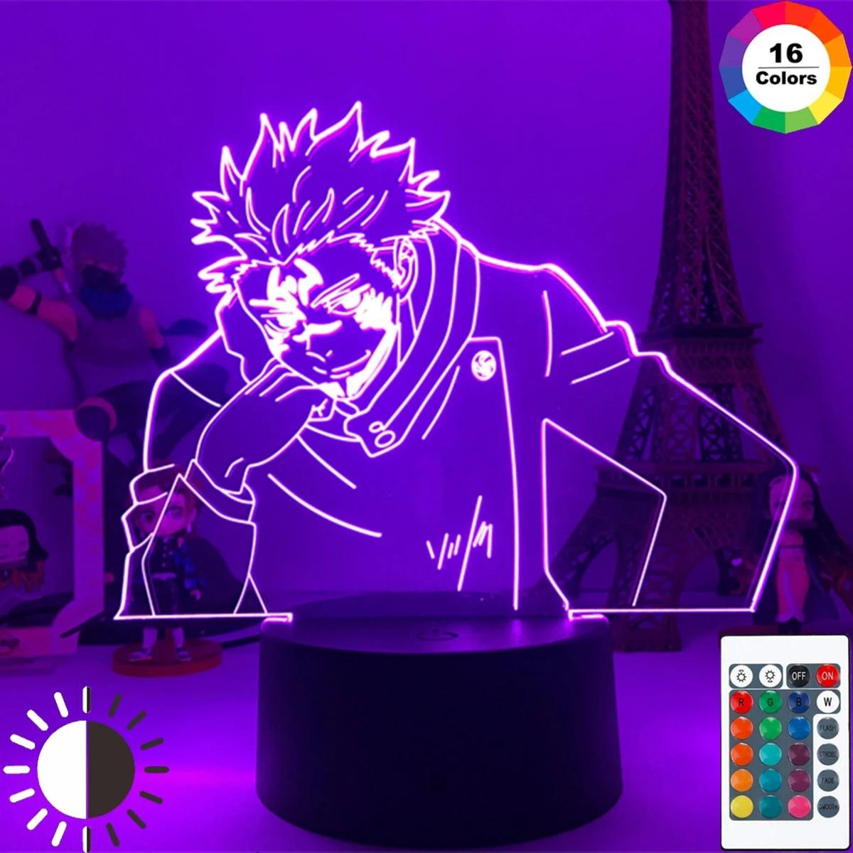 Anime Lamp Ryomen Sukuna Jujutsu Kaisen 3d Led Night Light For Kids Birthday Gift Jujutsu Kaisen Yuji Itadori Lamp Drop Shipping Led Night Lights Aliexpress