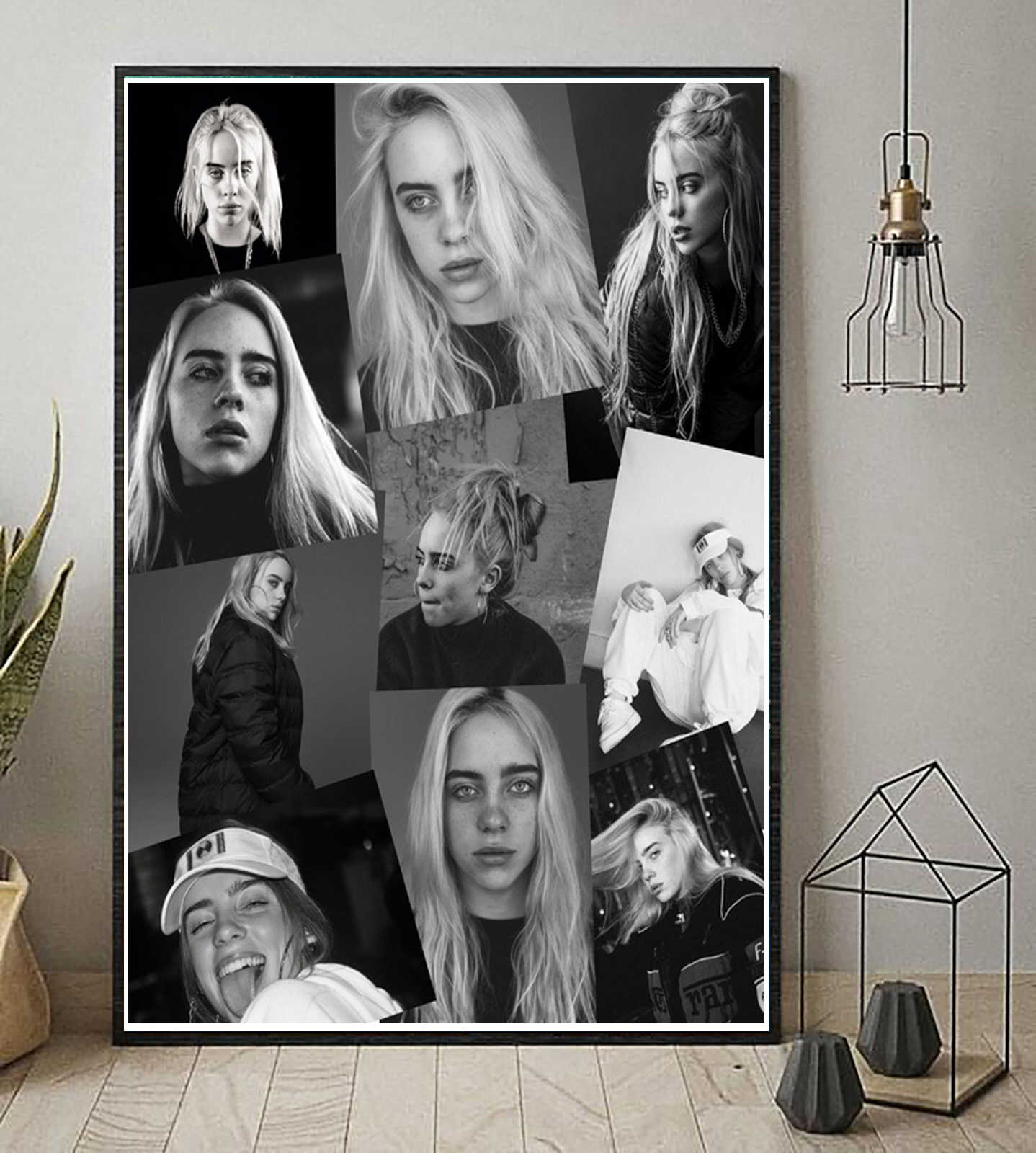 Billie Eilish Don't Smile at Me Pop Music Star Album Poster Prints Canvas Art Painting Wall Pictures For Living Room Home Decor