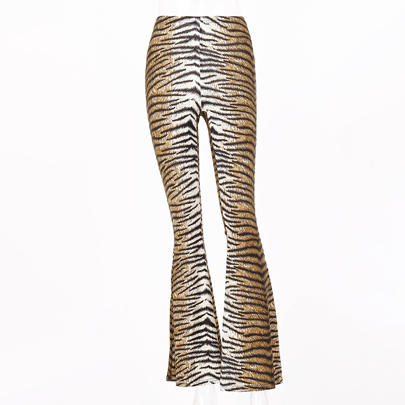 H3d4768623513418585876b4247c4fe143 Hugcitar high waist leopard print flare leggings 2020 autumn winter women fashion sexy bodycon trousers club pants