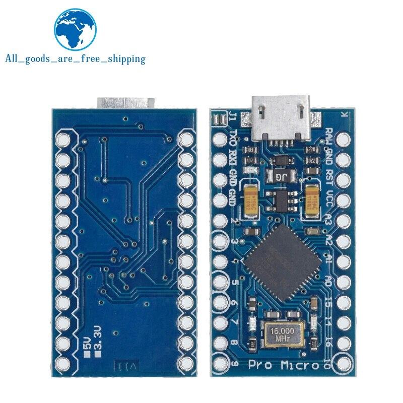Tzt Pro Micro ATmega32U4 5V 16Mhz Vervangen ATmega328 Voor Arduino Pro Mini Met 2 Rij Pin Header Voor leonardo Mini Usb Interface 4