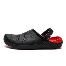 2020 New Summer Sandals for Beach Sports Men's Slip on Shoes Black Blue Jelly Slipper Male