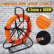 Cable de fibra de vidrio de 4,5mm, 70/100M, caña para correr, extractor de timón, Cable eléctrico de fibra de vidrio