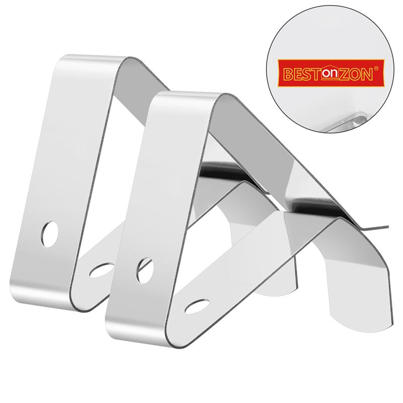 BESTONZON Meat Thermometer Probe Clip Holder Stainless Steel Thermometer Holder For Temperature Readings Of Smoker/Grill/Oven