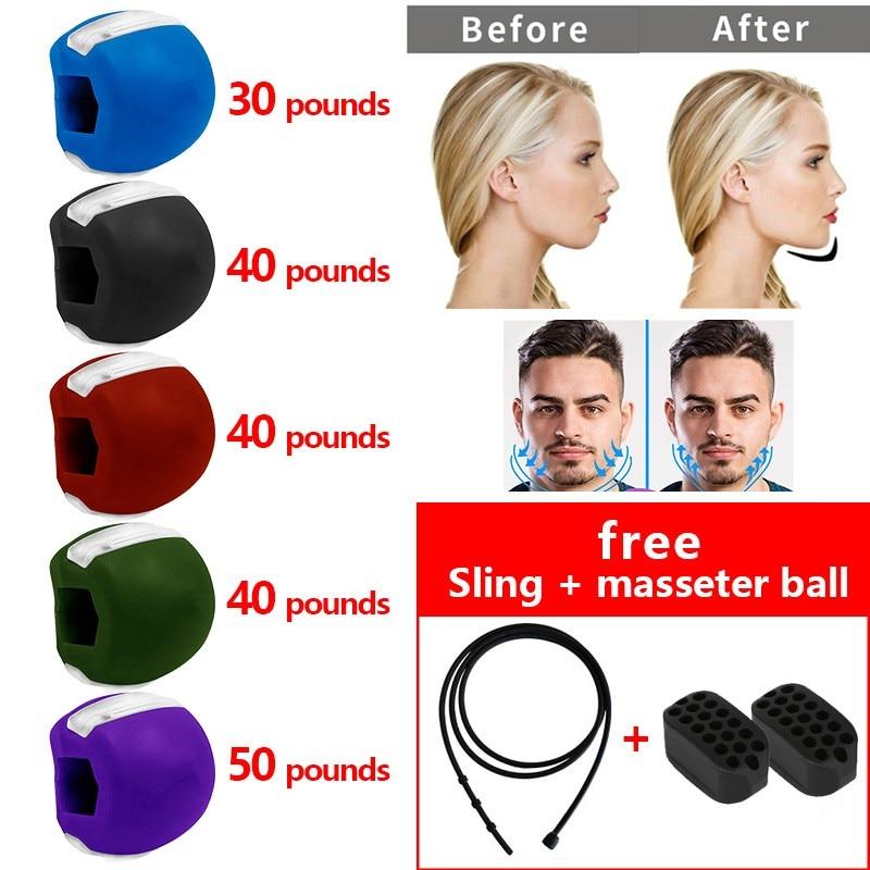 Мяч для фитнеса, массажер для лица для мужчин, тренажер для челюсти и мышц, жевательный мяч