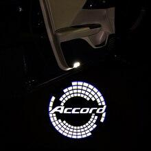 Door-Light Car-Emblem-Logo Honda Accord Crosstour 2pcs for Coupe-Sedan Pilot