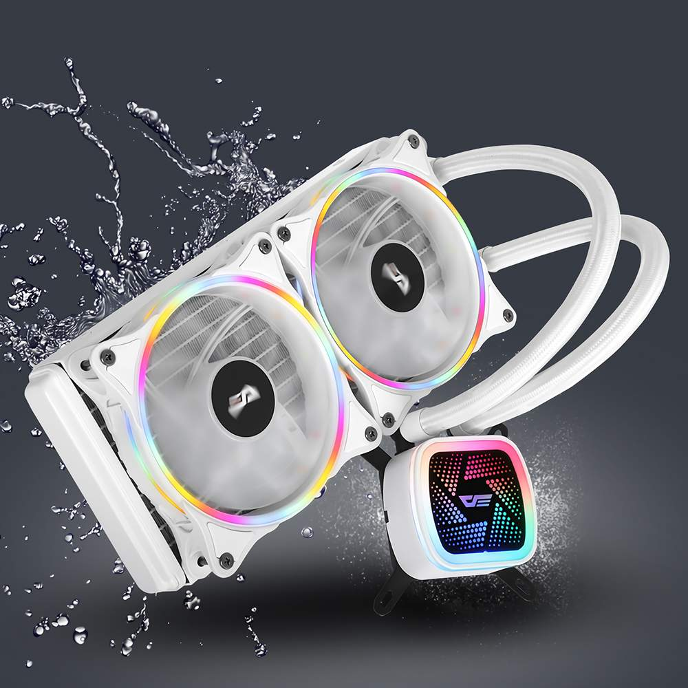 AIGO darkFlash DT240 Water Cooling Fan Liquid Cooler RGB Radiator with 120mm Computer PC Case Fan
